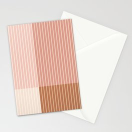 Color Block Line Abstract XVI Stationery Cards
