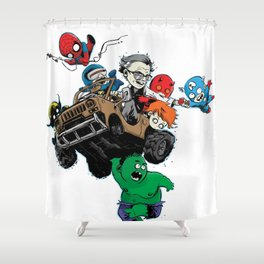 Baby Stan Lee and Friends Shower Curtain