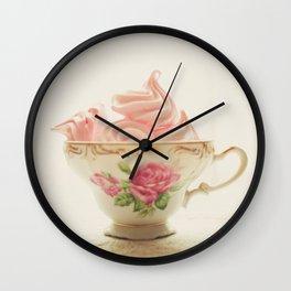 Pink Meringues Wall Clock
