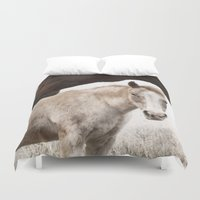 horses Duvet Covers featuring Horses by Ash W