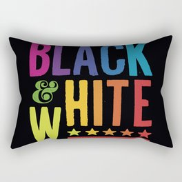 Colorful Black and White Rectangular Pillow