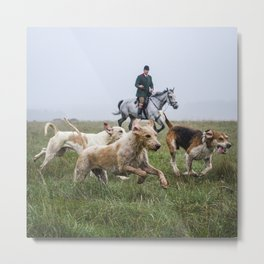Horse and Hounds Metal Print