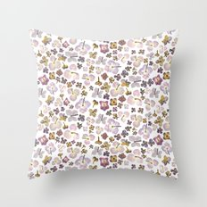 Scattered Hydrangea Throw Pillow