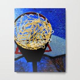 Basketball art swoosh 6 Metal Print