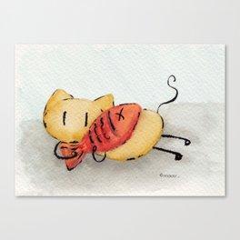 Stickitty cuddles Canvas Print