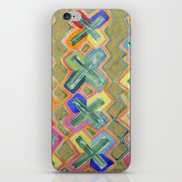 Colorful X-Pattern iPhone Skin