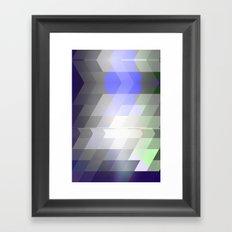 Slant Fade Framed Art Print