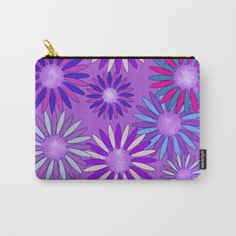 Ultra Violet Floral Poetry Carry-All Pouch
