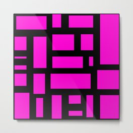 Pink and black rectangle pattern  Metal Print