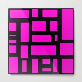 Pink and black rectangle pattern  Metal Print