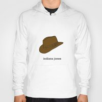 indiana Hoodies featuring Indiana Jones by Illustrated by Jenny