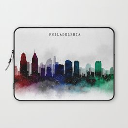 Philadelphia Watercolor Skyline Laptop Sleeve