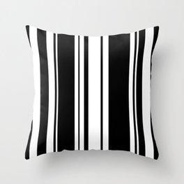 Black and white stripes 3 Throw Pillow