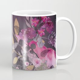 FLOWERS & GOLD  Coffee Mug
