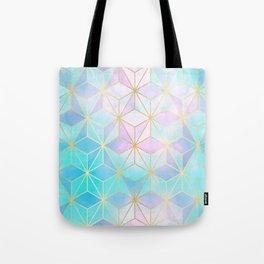 Iridescent Glass Geometric Pattern Tote Bag