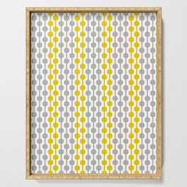 Geometric Droplets Pattern in Illuminating Yellow & Ultimate Gray Serving Tray