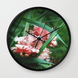Lace roses Wall Clock