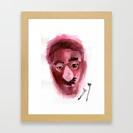 Sad & Clown Framed Art Print