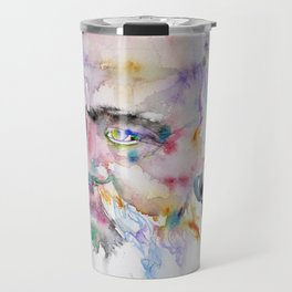 KARL MARX- watercolor portrait.2 Travel Mug