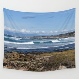 Pebble Beach Landscape Wall Tapestry