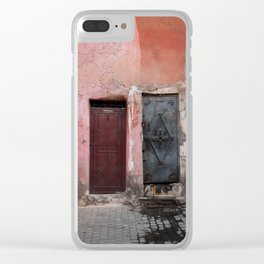The Old Doors (Marrakech) Clear iPhone Case