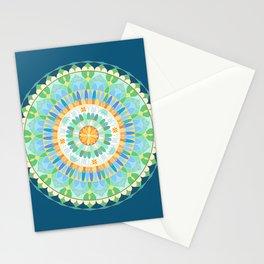 Mandala en azules Stationery Cards