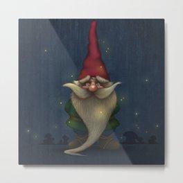 Old Christmas Gnome Metal Print