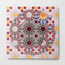 Arabian abstract pattern Metal Print