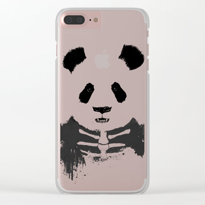Zombie panda Clear iPhone Case