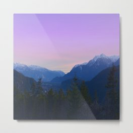 Evening on the Top Metal Print