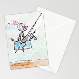 Atom Knight and Neutron Ride Out Stationery Cards