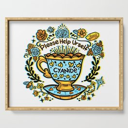 Poison of Choice: Cyanide TeaCup Serving Tray