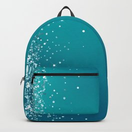 Bright Blue Glitter Pretty Chic Fancy Sparkling Backpack