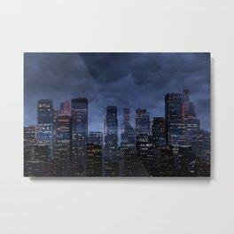 Night city panorama Metal Print