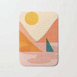 Abstraction_Lake_Sunset Bath Mat