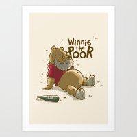 Winnie the Poor Art Print