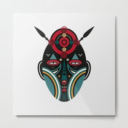 Maasai Warrior Metal Print