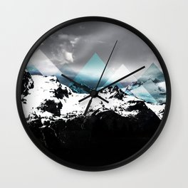 Mountains IV Wall Clock