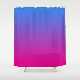 Vibrant Blue, Purple & Pink Gradient Color Shower Curtain