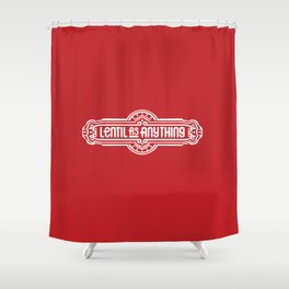 Lentil as Anything - Red Shower Curtain