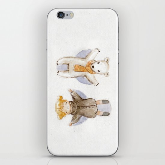 Snow Angels iPhone & iPod Skin