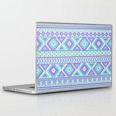 Tribal Art Creation Purple and Mint Laptop & iPad Skin