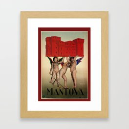 Mantova travel and cherubs Framed Art Print