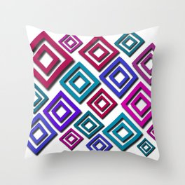 colorful polygons Throw Pillow