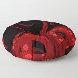 Subterranean - Red Tentacle Floor Pillow