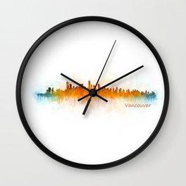 Vancouver Canada City Skyline Hq v03 Wall Clock