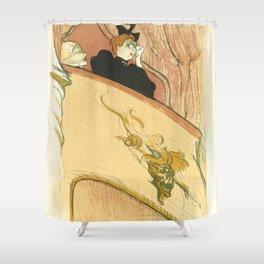 """Henri de Toulouse-Lautrec """"La loge au mascaron doré (Box with the Gilded Mask)"""" Shower Curtain"""