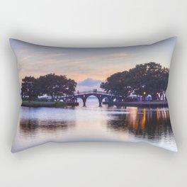 Pedestrian Bridge at Sunset Rectangular Pillow