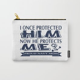 Proud Military Parent Navy Mom Carry-All Pouch