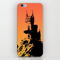 castle in the sky iPhone & iPod Skins featuring Castle by Julia Badeeva